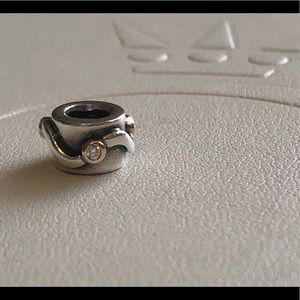 Retired Authentic Pandora Two Tone Diamond Charm